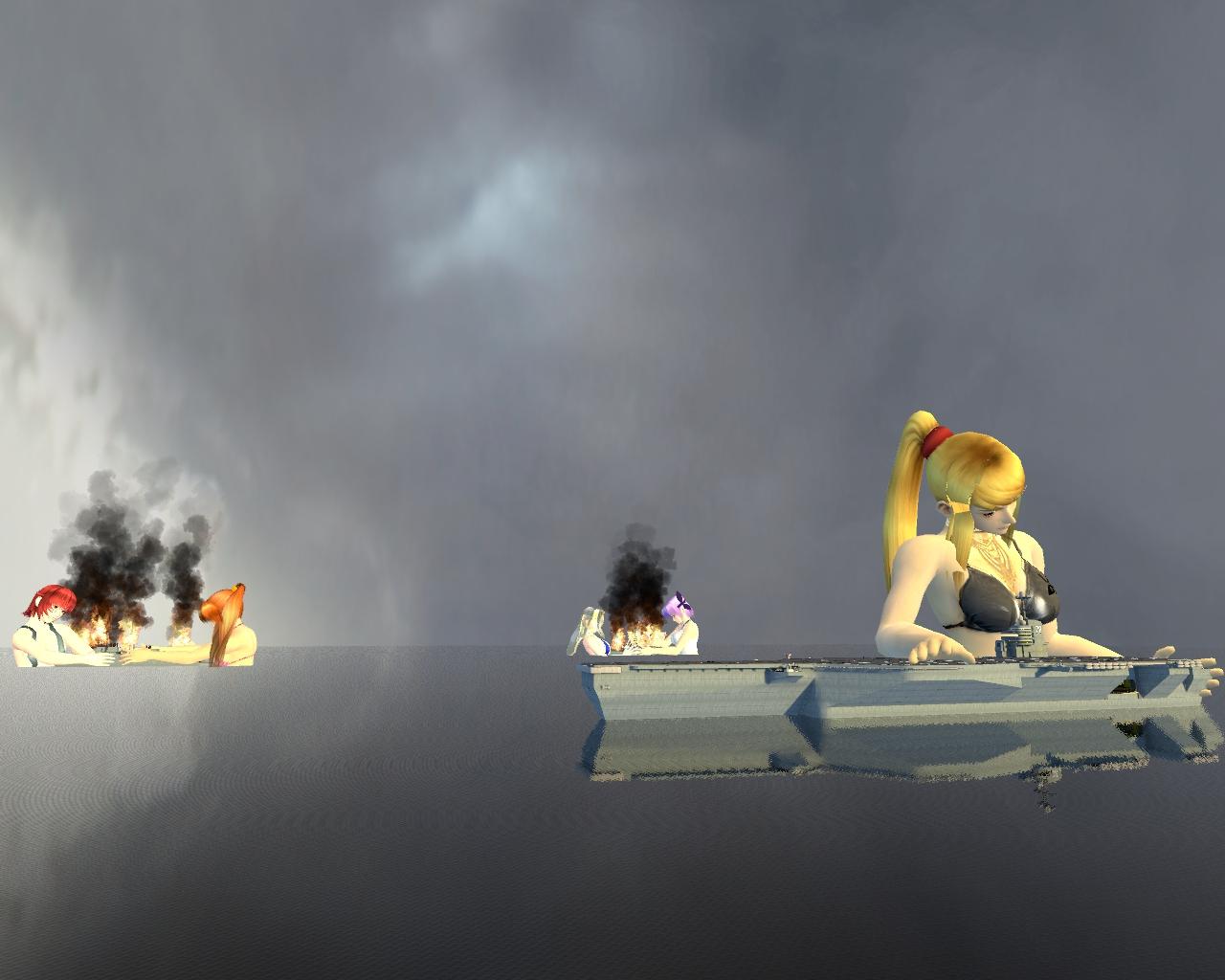 Girls vs ships